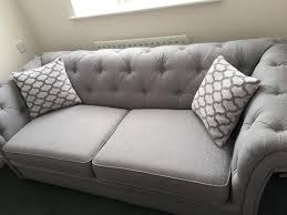 Dfs Chesterfield Sofa Dfs Grey 3 Seater Sofa Bed Brand New Still Selling For 1 798