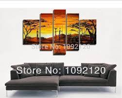 100 hand painted discount african canvas art framed wall art