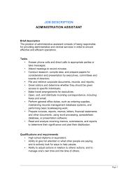 10 best images of administrative assistant job description