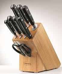 chasseur coupe knife block set 9 piece on sale now