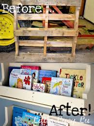 Pallet Bookcase Before And After A Diy Pallet Bookshelf Apartment Therapy