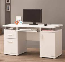 luxury white desk with keyboard tray 39 for layout design