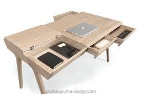 bureau chene massif moderne cosimo bureau laqué brillant au design moderne de la marque