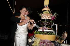 wedding cake made of cheese wedding cakes of cheese