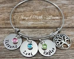 s day bracelet with birthstones kids name bracelet etsy