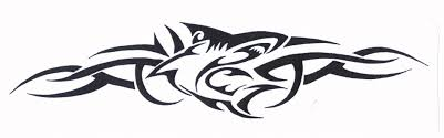 latest tribal hammerhead shark tattoo model in 2017 real photo