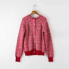 unique luxurious design women top fashion sweet red sweater