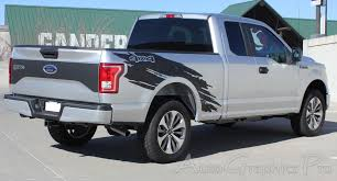 Ford F150 Truck Wraps - 2015 2016 2017 2018 ford f 150 torn vinyl graphics side truck bed