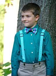 boy s bow tie and suspenders set bowtie suspenders ring bearer
