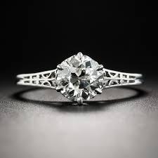 vintage 1 12 carat diamond platinum solitaire engagement ring
