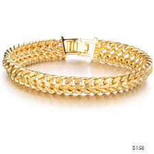classic gold bracelet images Classic men 39 s curb chain gold link bracelet for men jewelry gift jpg