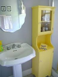 Yellow Bathroom Ideas Colors Contemporary Toilet Seat With Wainscoting And Towel Stand Design