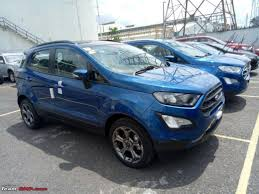2018 ford ecosport titanium s spotted in india in lightning blue