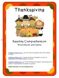 thanksgiving reading comprehension ccss rl 1 1 1 7 1 10