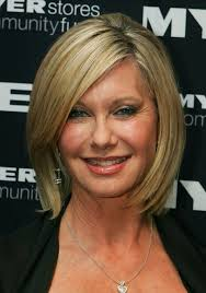 layered bob hairstyles for over 50s olivia newton john short hairstyle for women over 50s 60s olivia