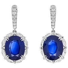 royal blue earrings sri lanka royal blue sapphire drop earrings with diamonds