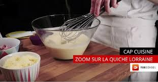 recette cap cuisine recette quiche lorraine cap cuisine à distance ecole youschool