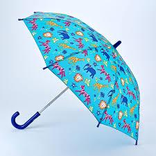 fulton junior kids umbrella jungle chums animal print