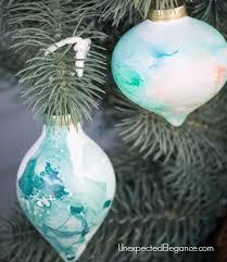 handmade watercolor ornament using nail