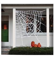 maker u0027s halloween large corner spider web decoration white joann