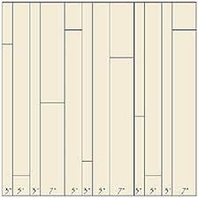 installation of random width plank flooring support information