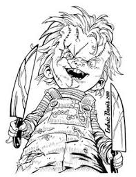 chucky coloring page chucky doll coloring pages funycoloring