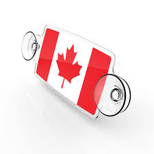 Canada Flag Colors Toll Pass Ez Pass Transponder Holder Canadian Flag Autoboxclub