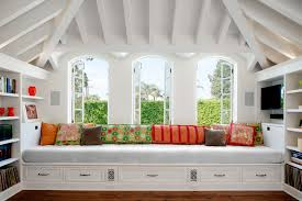 built in daybed living room traditional with alcove built in