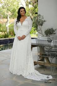 sleeve lace plus size wedding dress best 25 plus wedding dresses ideas on plus size