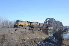 admiring union pacific u0027s blair bridge across the missouri river