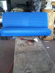 custom blue leather bench seat 10th street auto u0026 trim