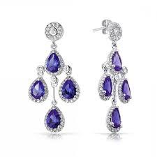 teardrop chandelier earrings bling jewelry color crown cubic zirconia teardrop chandelier