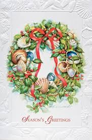 seashell wreath seashell wreath shell themed boxed christmas cards