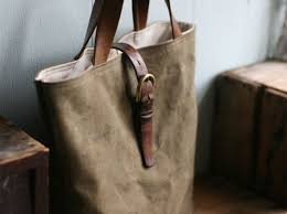 Upcycled Leather Bags - recycled canvas tote bag by forestbound ecouterre
