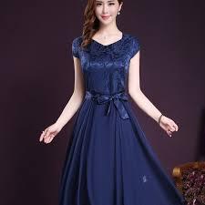 online get cheap navy silk dress aliexpress com alibaba group
