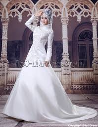 islamic wedding dresses high neckline modest sleeves islamic wedding gown 1st dress