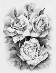 pencil drawn rose tattoo design best tattoo designs