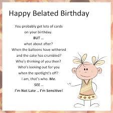 doc late birthday card u2013 funny belated birthday card humorous