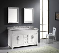 virtu usa victoria 60 double bathroom vanity set in white