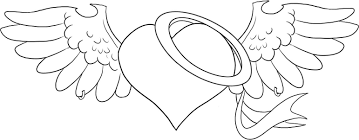hearts with wings coloring pages coloring page of hearts coloring