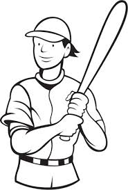 baseball player batting stance free coloring sports