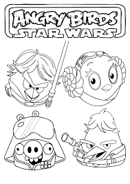 angry birds coloring pages angry birds star wars coloring pages