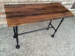 Plank Desk Amazon Com Reclaimed Wood Desk Table Solid Oak W 28