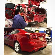 lexus hk career quarter panel swap on this beautiful red lexus is250 micelli