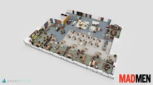 famous tv shows brought to life with 3d plans drawbotics 5 mad men