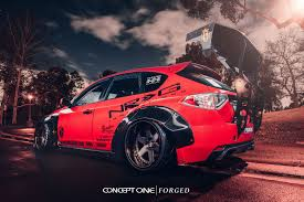 modified subaru wrx heavily modified custom red subaru wrx on forged rims u2014 carid com