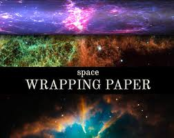 themed wrapping paper space wrapping paper etsy