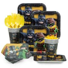batman party supplies lego batman standard tableware kit lego batman party supplies from