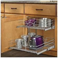 pull out sliding metal kitchen pot cabinet storage organizer 2