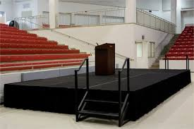 portable stage ideal for the successful accomplishment of your